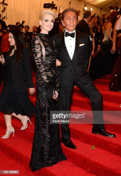 Anne Hathaway and Valentino Garavani attend the Costume Institute Gala for the 'PUNK Chaos to Couture' exhibition at the Metropolitan Museum of Art...