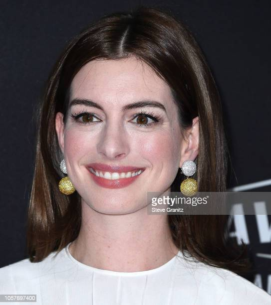Anne Hathaway arrives at the 22nd Annual Hollywood Film Awards on November 4 2018 in Beverly Hills California