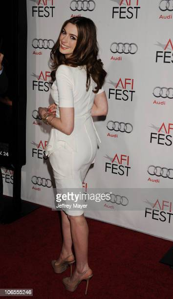 Anne Hathaway arrives at the AFI Fest 2010 Opening Night Gala Screening Of 'Love And Other Drugs' at Grauman's Chinese Theatre on November 4 2010 in...