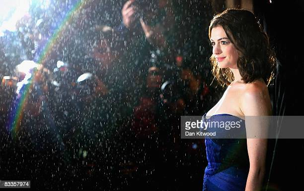 Anne Hathaway arrives at the premiere of 'Rachel Getting Married' during the BFI 52nd London Film Festival, at the Vue Cinema on October 20, 2008 in...