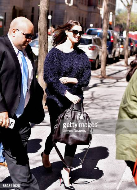 Anne Hathaway arrives to ABC's 'The View' on the Upper West Side on April 18 2017 in New York City