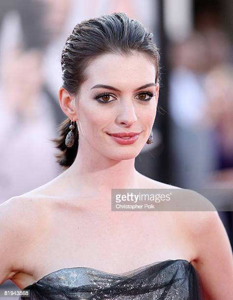 Anne Hathaway arrives to The World Premiere of 'Get Smart' on June 16 2008 at the Mann Village Theatre in Westwood California