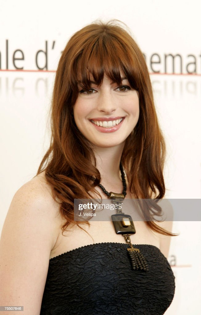 Anne Hathaway at the Casino Palace in Venice Lido, Italy.
