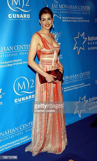 Anne Hathaway at the Entertainment Industry Foundation's colon cancer benefit on the Queen Mary 2