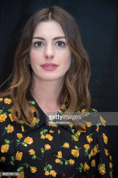 Anne Hathaway at the 'Ocean's 8' Press Conference at the Whitby Hotel on May 24 2018 in New York City