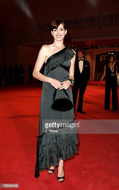 Anne Hathaway at the Palazzo del Cinema in Venice Lido Italy