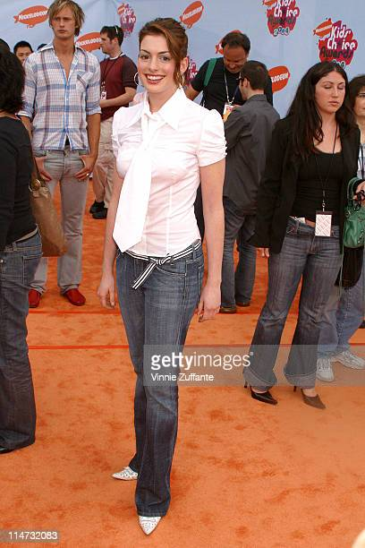 Anne Hathaway attending the 17th Annual Nickelodeon Kid's Choice Awards at Pauley Pavillion at UCLA Westwood California 04/03/04