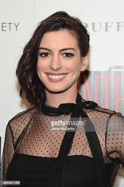 Anne Hathaway attends a screening of Warner Bros Pictures 'The Intern' hosted by The Cinema Society And Ruffino on September 22 2015 in New York City