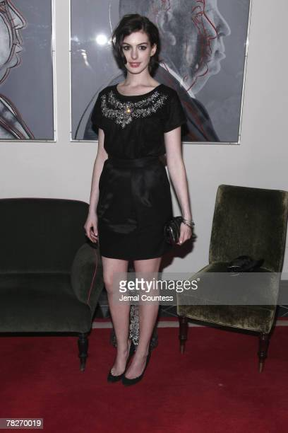 Anne Hathaway attends Dolce Gabbana's The One Fragrance Launch and Private Dinner at The Grammercy Park Hotel on December 4 2007 in New York City