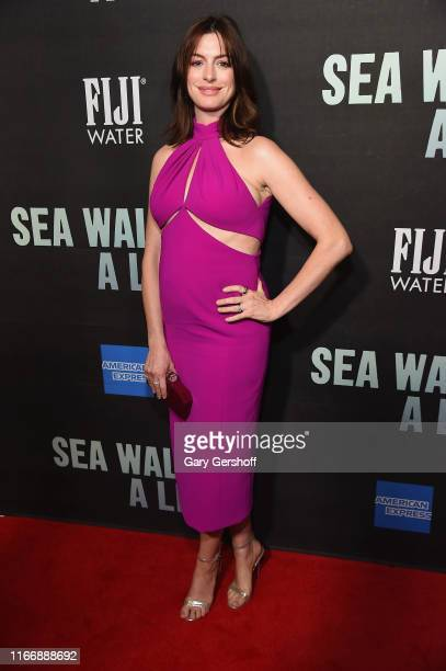 """Anne Hathaway attends """"Sea Wall / A Life"""" Broadway Opening Night at The Hudson Theatre on August 08, 2019 in New York City."""
