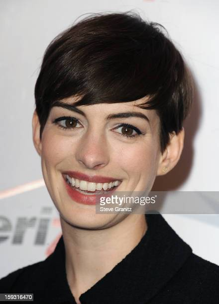 Anne Hathaway attends the 13th Annual AFI Awards Luncheon at the Four Seasons Hotel Los Angeles at Beverly Hills on January 11, 2013 in Beverly...