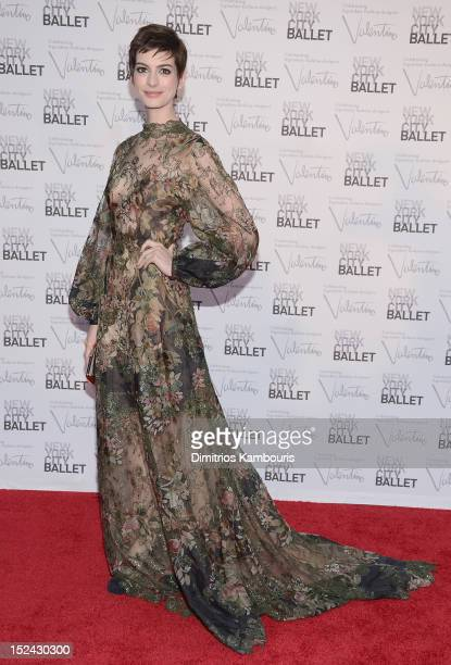 Anne Hathaway attends the 2012 New York City Ballet Fall Gala at the David H Koch Theater Lincoln Center on September 20 2012 in New York City