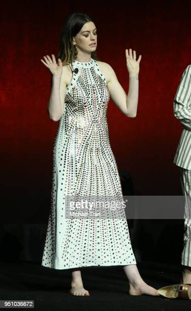 Anne Hathaway attends the 2018 CinemaCon Warner Bros Pictures 'The Big Picture' an exclusive presentation held at The Colosseum at Caesars Palace on...