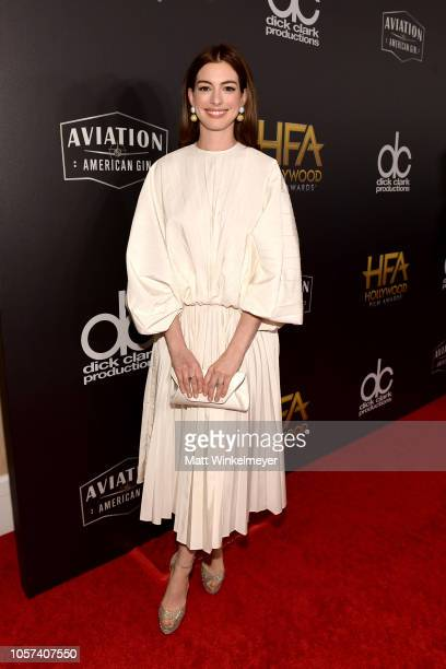 Anne Hathaway attends the 22nd Annual Hollywood Film Awards at The Beverly Hilton Hotel on November 4 2018 in Beverly Hills California