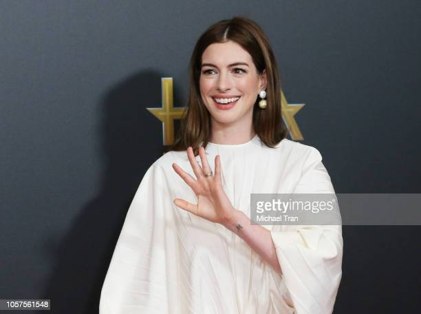 Anne Hathaway attends the 22nd Annual Hollywood Film Awards held at The Beverly Hilton Hotel on November 4 2018 in Beverly Hills California