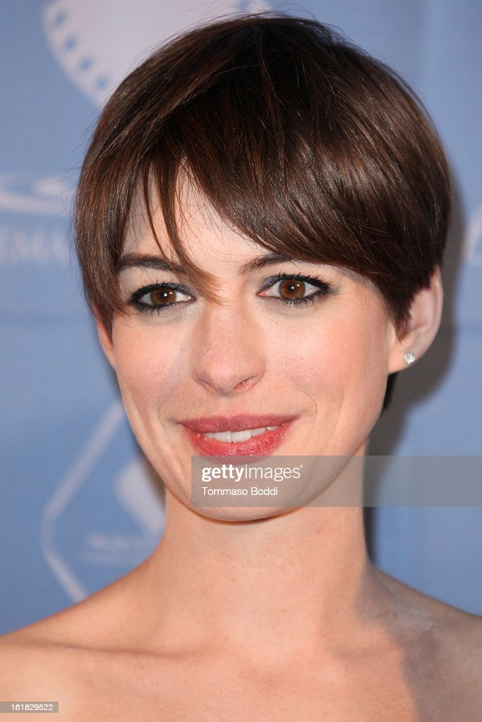 Anne Hathaway attends the 49th annual Cinema Audio Society Awards held at Millennium Biltmore Hotel on February 16, 2013 in Los Angeles, California.