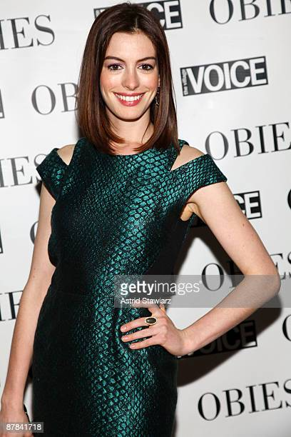 Anne Hathaway attends the 54th Annual Village Voice Obie Awards at Webster Hall on May 18, 2009 in New York City.