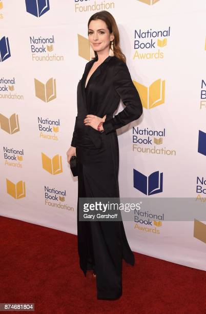 Anne Hathaway attends the 68th National Book Awards at Cipriani Wall Street on November 15, 2017 in New York City.
