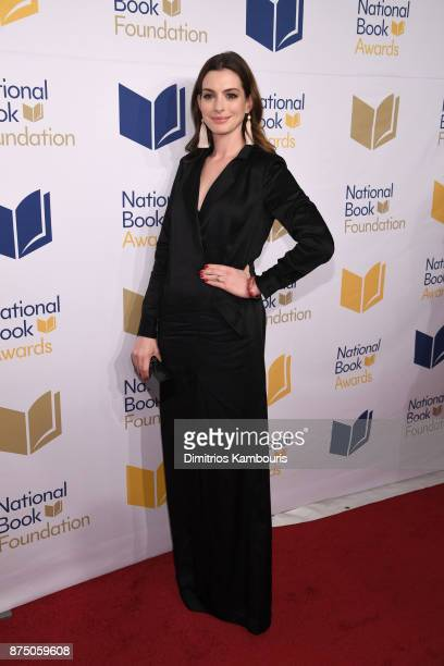 Anne Hathaway attends the 68th National Book Awards at Cipriani Wall Street on November 15 2017 in New York City