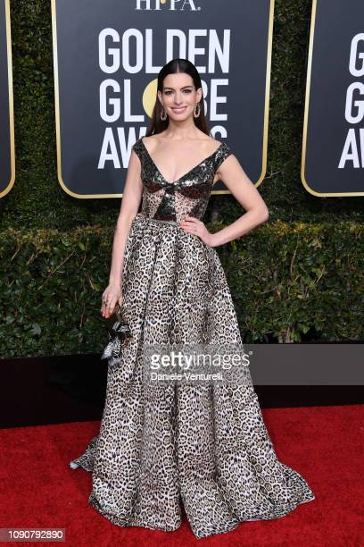 Anne Hathaway attends the 76th Annual Golden Globe Awards at The Beverly Hilton Hotel on January 06 2019 in Beverly Hills California