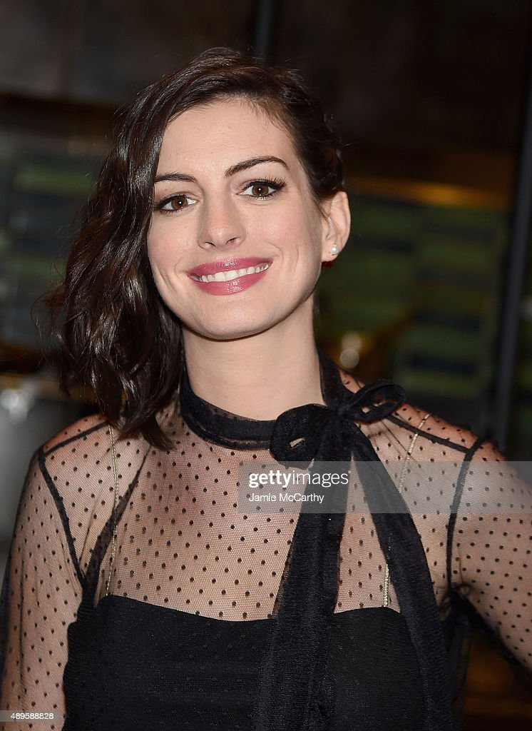 Anne Hathaway attends the after party for the screening of Warner Bros. Pictures 'The Intern' hosted by The Cinema Society And Ruffino on September 22, 2015 in New York City.