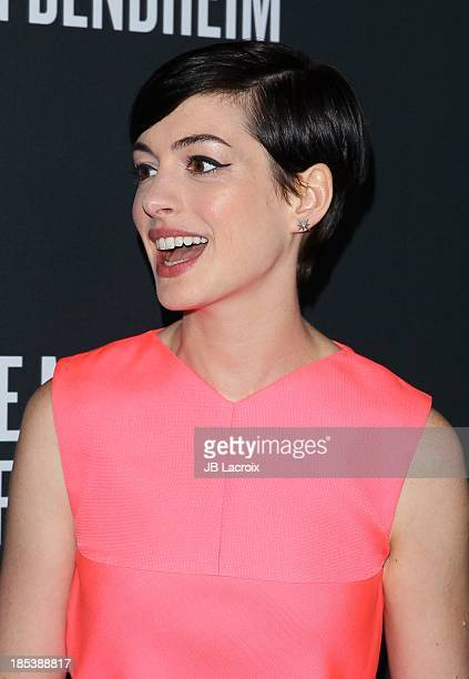 Anne Hathaway attends the Elyse Walker's Pink Party Benefiting The Women's Cancer Program At CedarsSinai's Samuel Oschin Comprehensive Cancer...