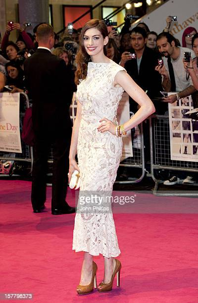 Anne Hathaway Attends The European Premiere Of 'One Day' At Vue Westfield