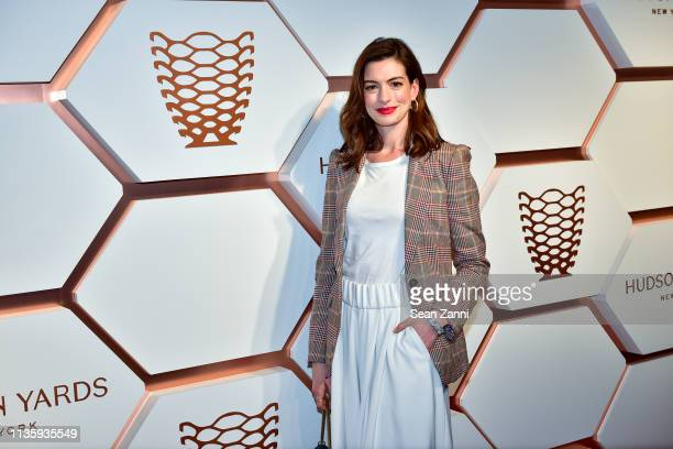 Anne Hathaway attends the Hudson Yards Grand Opening Party at Hudson Yards on March 14 2019 in New York City