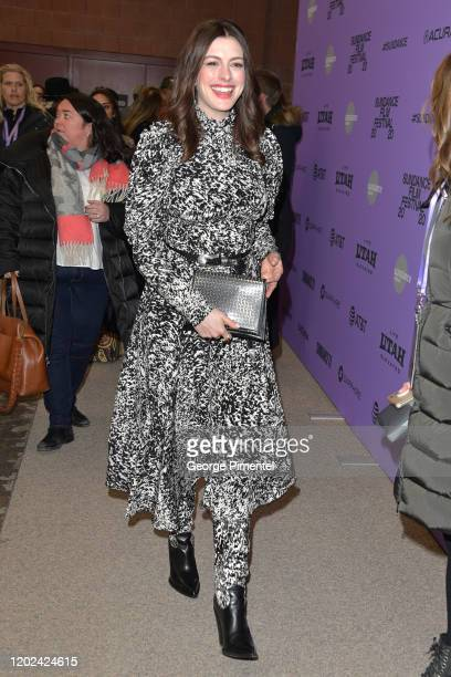 "Anne Hathaway attends ""The Last Thing He Wanted"" premiere at Eccles Center Theatre on January 27, 2020 in Park City, Utah."