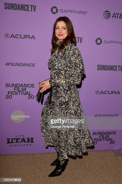 Anne Hathaway attends The Last Thing He Wanted premiere at Eccles Center Theatre on January 27 2020 in Park City Utah