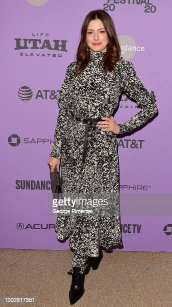 """Anne Hathaway attends """"The Last Thing He Wanted"""" premiere at Eccles Center Theatre on January 27, 2020 in Park City, Utah."""