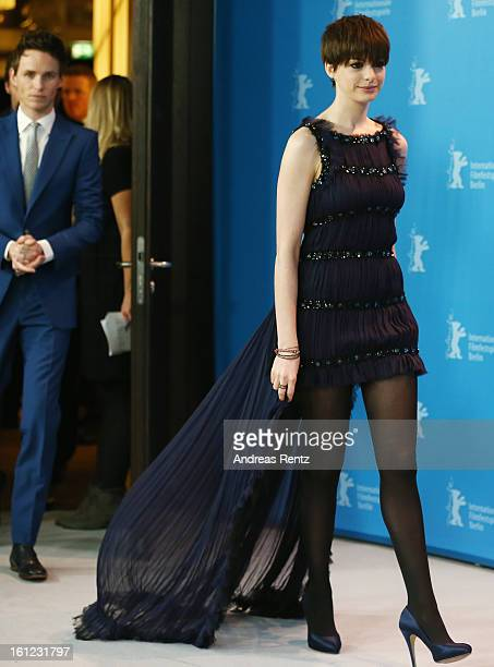 Anne Hathaway attends the 'Les Miserables' Photocall during the 63rd Berlinale International Film Festival at Grand Hyatt Hotel on February 9 2013 in...