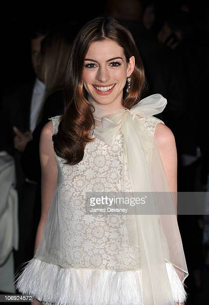 Anne Hathaway attends the Love And Other Drugs screening at the DGA Theater on November 16 2010 in New York City