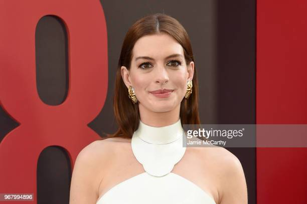 Anne Hathaway attends the 'Ocean's 8' World Premiere at Alice Tully Hall on June 5 2018 in New York City