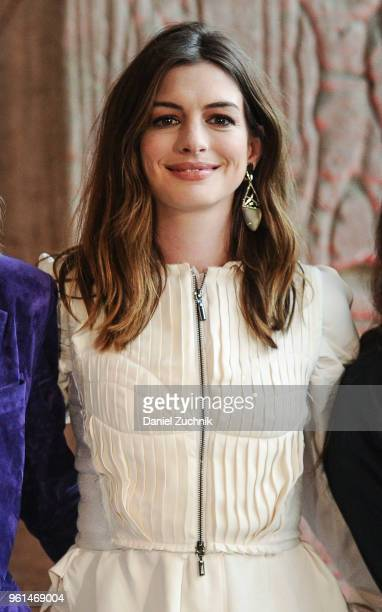 Anne Hathaway attends the 'Ocean's 8' worldwide photo call at The Metropolitan Museum of Art on May 22 2018 in New York City