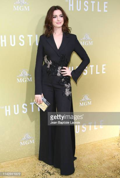 Anne Hathaway attends the premiere of MGM's The Hustle at ArcLight Cinerama Dome on May 08 2019 in Hollywood California