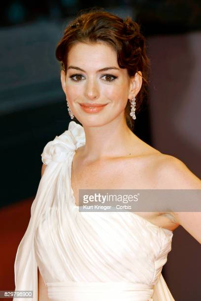 Anne Hathaway attends the premiere of 'The Devil Wears Prada' at the 2006 Venice Film Festival in Venice Italy on September, 07. 2006 EDITORS NOTE:...