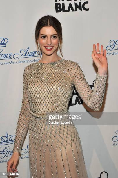 Anne Hathaway attends the Princess Grace Awards Gala at Cipriani 42nd Street on November 1 2011 in New York City