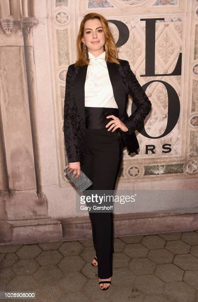 Anne Hathaway attends the Ralph Lauren 50th Anniversary event during New York Fashion Week at Bethesda Terrace on September 7 2018 in New York City