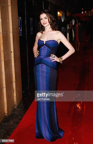 Anne Hathaway attends the screening of 'Rachel Getting Married' as part of the Times BFI 52nd London Film Festival held at the Vue West End on...