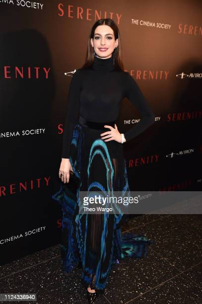 Anne Hathaway attends the Serenity New York Screening at Museum of Modern Art on January 23 2019 in New York City