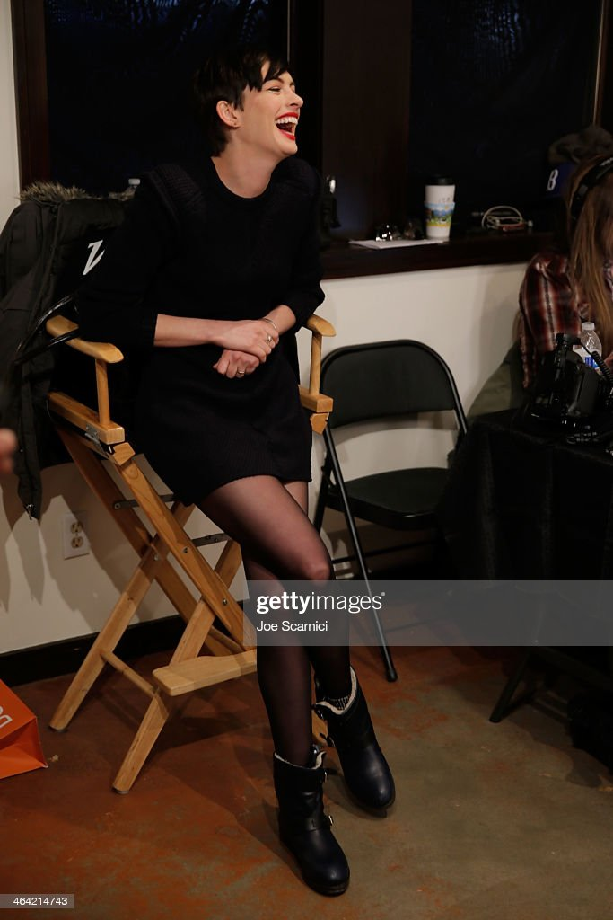 Anne Hathaway attends The Variety Studio: Sundance Edition Presented By Dawn Levy on Day 4 of the 2014 Park City2014 in Park City, Utah.