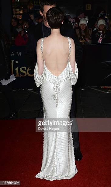 Anne Hathaway attends the world premiere of Les Miserables at The Odeon Leicester Square on December 5 2012 in London England