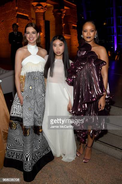 Anne Hathaway Awkwafina and Rihanna attend the 'Ocean's 8' World Premiere After Party on June 5 2018 in New York City
