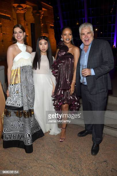 Anne Hathaway Awkwafina Rihanna and Gary Ross attend the 'Ocean's 8' World Premiere After Party on June 5 2018 in New York City