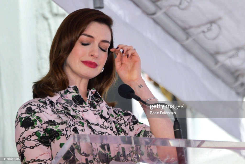 Anne Hathaway honored with Star On The Hollywood Walk Of Fame : News Photo