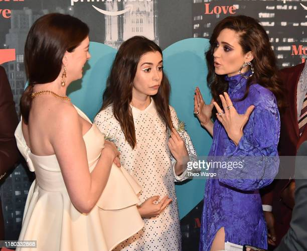 Anne Hathaway Cristin Milioti and Emmy Rossum attend Amazon's Museum Of Modern Love on October 10 2019 in New York City
