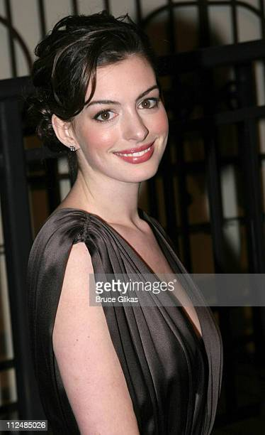 Anne Hathaway during 2005 'Mr Abbott' Awards Arrivals at Lighthouse at Chelsea Piers in New York United States