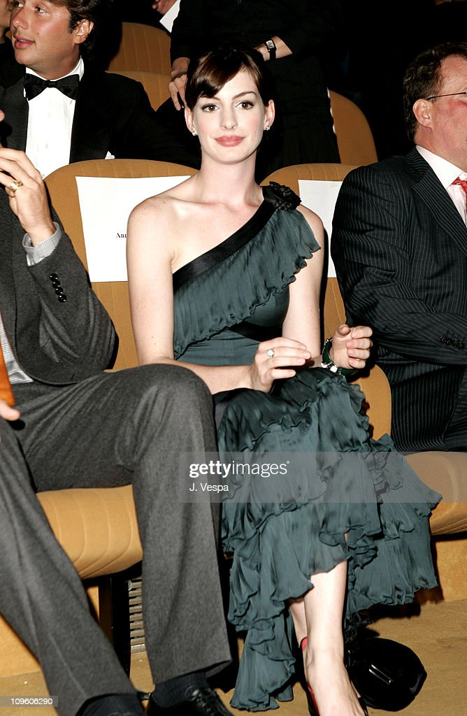 Anne Hathaway during 2005 Venice Film Festival - 'Brokeback Mountain' Premiere - Inside at Palazzo del Cinema in Venice Lido, Italy.