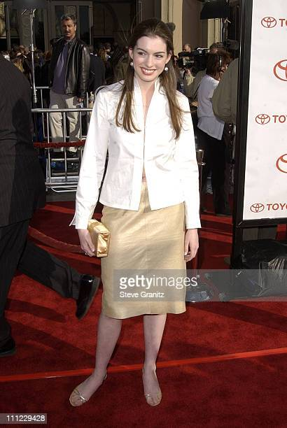 Anne Hathaway during 20th Anniversary Premiere of Steven Spielberg's ET The ExtraTerrestrial Arrivals at The Shrine Auditorium in Los Angeles...
